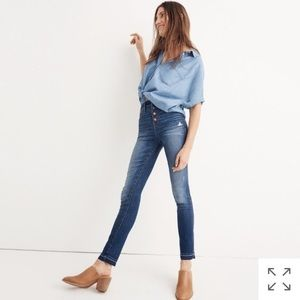 Madewell NWT 10 inch high rise skinny jeans